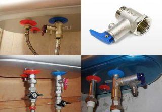 Зачем и как устанавливать предохранительный клапан на нагреватели воды