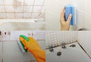 Способы и средства для отмывания плитки в ванной