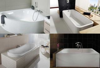 Разнообразие ванн по ширине, глубине и длине