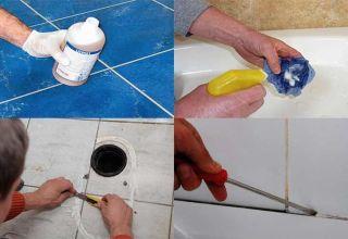 Способы снять герметик с поверхности ванны