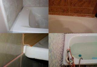 Способы заделки щели между стеной и ванной