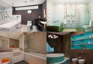 Выбор и создание интерьера ванной комнаты, совмещённой с туалетом