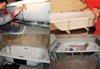 Установка ванны: особенности монтажа разных моделей