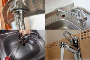 Как установить кухонный смеситель