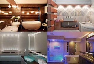 Выбор и установка светильников для ванной комнаты