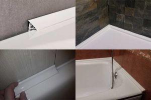 Выбор и приклеивание плинтуса для ванны
