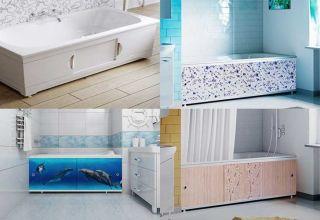 Виды и изготовление экранов под ванну