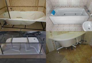 Правила сборки и установки акриловой ванны